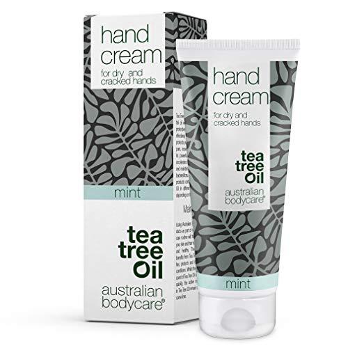 Australian Bodycare Crema de Manos Diaria para Manos Muy Secas | Loción Tea Tree Oil y Menta para Hombre | Humectante para Nudillos Agrietados de Mujeres | Para Eczema y Dermatitis 100% Vegano I 100ml