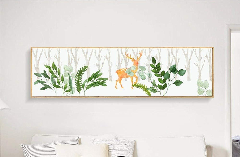 ventas en linea ZJMI Nordic Forestal Simple Simple Simple Elk Pintura Decorativa Sin Cerco Decorativo Pintura Pintura Mural 40×150Cm.  últimos estilos