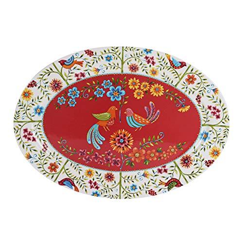 Ceramic Oval Bird Platter