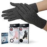 Doctor Developed Arthritis gloves / Compression gloves for Women & Men and Doctor Written Handbook - Useful for Arthritis, Raynauds, RSI, Carpal tunnel (full-length, L)