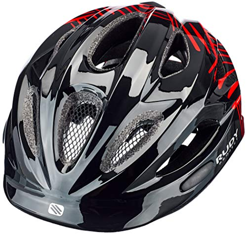 Rudy Project Rocky Helm Kinder Black-red Shiny 2021 Fahrradhelm