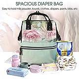 Mochila multifunción con cojín romántico en estilo desgastado, cambiador de pañales, bolsa de maternidad, mochila de viaje, impermeable, gran capacidad