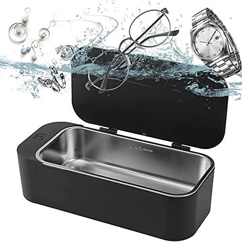 Ultraschallreiniger, professionelle Schmuckreinigungsmaschine, leiser 42kHz-Ultraschallbrillenreiniger, tragbarer Mini-Ultraschall-Prothesenreiniger für Schmuck, Silber, Brillen, Ringe, Uhren-16 Unzen