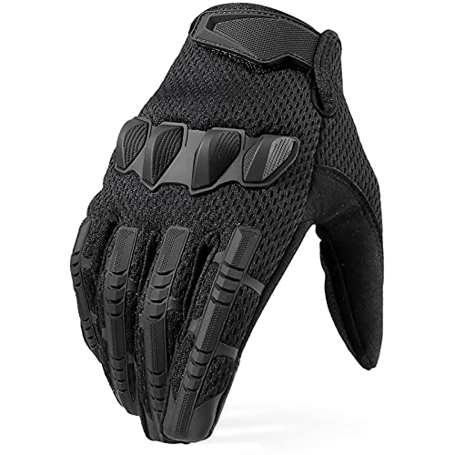 YZRDY Tactical Military Finger Guantes De Finger Ejército Combate Pantalla Táctil Guante De Goma Hombres Mujeres Mujeres Duradero (Color : Full Finger Black, Gloves Size : M (19m 20cm))
