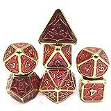 Juego de Dados de Juguetes educativos Dice NÚMERO Dice Entretenimiento Dice Dice Metal Dice Board Set Juego (2 Juegos) Suministros para la Fiesta (Color : Red, Size : 20mm)