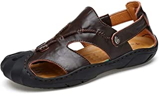 Sumuzhe Stylish and Comfortable Stylish and Comfortable Men's Fashion Sandal Casual Beach Comfortable Simple Buckle Outdoor Water Shoes (Color : Darkbrown, Size : 8.5 UK)