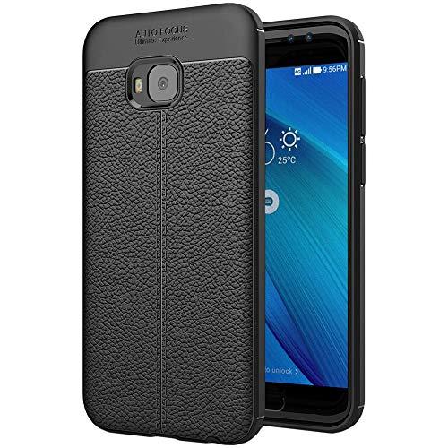 ebestStar - kompatibel mit Asus Zenfone 4 Selfie Pro Hülle ZD552KL Lederhülle Design TPU Handyhülle Schutzhülle, Flex Silikon Hülle, Schwarz [Phone: 154 x 74.8 x 6.9mm, 5.5'']