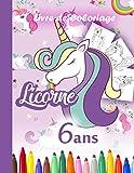 Licorne Livre de Coloriage 6 ans: plus de 40 beaux dessins à colorier Cahier 8.5 x 11