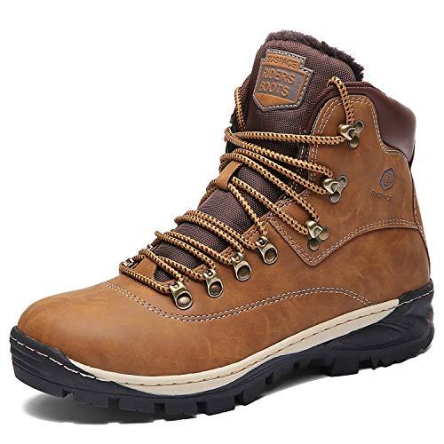 Sixspace Winterstiefel Warm Gefütterte Winterschuhe Outdoor Schneestiefel rutschfest Winter Boots Wanderschuhe für Herren Damen Kamel 41 EU