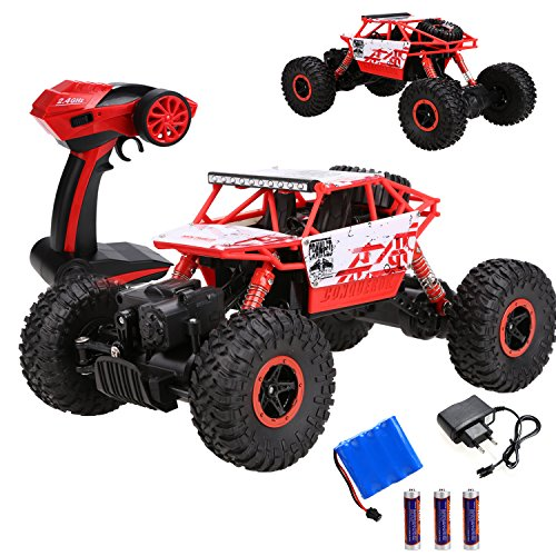 RC Auto kaufen Crawler Bild: s-idee HB-P1801 4WD Rock Crawler RC Car Geländewagen Auto, 1:18 Fernbedienung Monster Truck/Off Road Fahrzeug Rot*