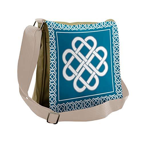 Ambesonne Irish Messenger Bag, Celtic Love Knot, Unisex Cross-body