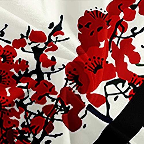 HKDGHTHJ funda nórdica Farolillo rojo ciruela estilo chino 220 x 230 CM Juego de funda nórdica Juego de ropa de cama doble tamaño Queen King Size Juego de sábanas de edredón suave Juego de sábanas Ro