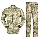 Zhiyuanan Uomo Tattico Camouflage Suit 2 Pezzi Set Outdoor Caccia Trekking Campeggio Combat Militare Giacche da Trekking Impermeabili + Pantaloni Mimetico Abbigliamento Gobi Giungla S