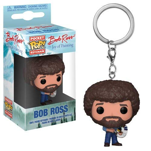 Funko POP! Keychain: TV Bob Ross Collectible Figure, Multicolor