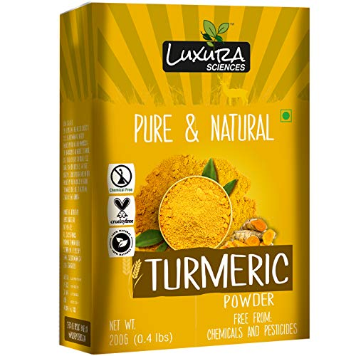 Luxura Sciences Organic Curcumin Wild Turmeric Powder For Skin Whitening 200Gms.