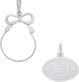 Rembrandt Charms Synchronized Swimming Charm on an Optional Charm Holder
