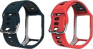 Chainfo Correa de Reloj Recambios Correa Relojes Caucho Compatible con Tomtom Spark/Spark 3 / Runner 2 / Runner 3 / Golfer...