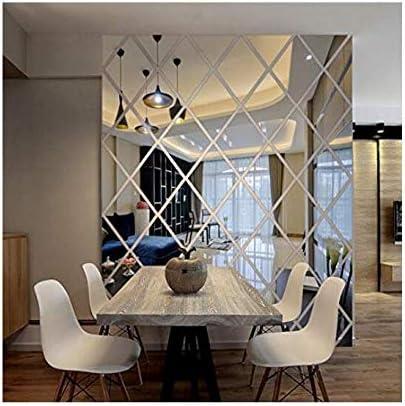 Ayzr Be super welcome Diamonds Max 79% OFF Triangles Wall Art Sticker Hou Acrylic Mirror