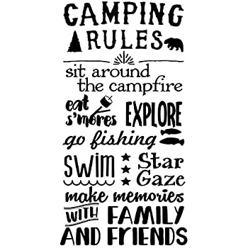 Wall Decor Plus More WDPM3877 Family That Camps Stays Together Camper Summer Wall Quotes Decals for RV D/écor 23x18-inch Chocolate 23 x 18 23 x 18 Wall Décor Plus More