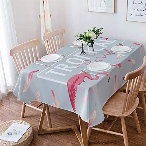 Womenfocus Rectangle Max 82% OFF Tablecloth for Kitchen Dinning Fea Flamingo Albuquerque Mall