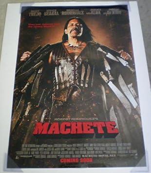 Amazon Com Machete Poster De La Pelicula 1 Cara Original 27 X 40 Danny Trejo Jessica Alba Hogar Y Cocina