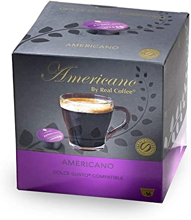 Americano Dolce Gusto-Compatible by Real Coffee, 32 Capsules, Denmark