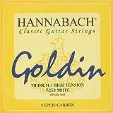 Hannabach Cuerdas Para Guitarra Clasica, Serie 725 Tension Media/Alta Goldin - Cuerda Suelta G3/Sol3