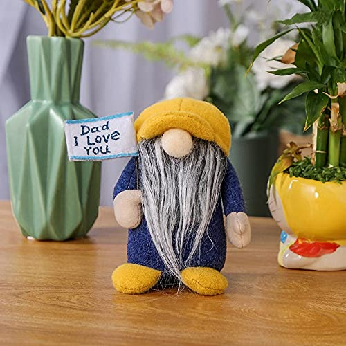 Desktop Decorations Craft Faceless Doll Ornament Model Party Office Home Decor Festival Supplies Gift (Color : Yellow Cap)