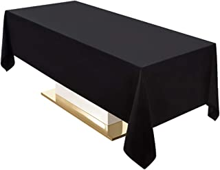 Surmente Tablecloth 60 x 102-Inch Rectangular Polyester Table Cloth for Weddings, Banquets, or Restaurants (Black) … …