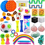 Happy Fidgets 30 pc Fidget Pack with Storage Box, Calming Sensory Toys Set for Stress Relief, Bored Boys, Girls, Teens, Adults, Kit of Fidgets