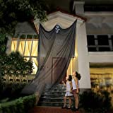AOFOX Puntello di Halloween Fantasma Appeso Scheletro Volante Fantasma, 3,3 m di Lunghezza Decorazioni sospese di Halloween per Bar da Festa in Giardino (Nero)