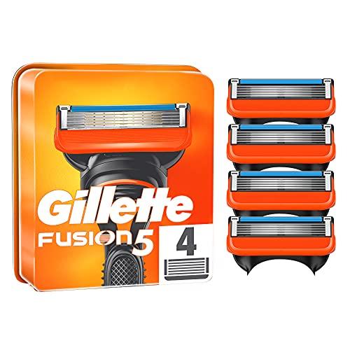 Gillette Fusion 5 Rasierklingen, 4 Rasierklingen pro Packung, mit Anti-Irritations-Klingen für bis zu 20 Rasuren pro Klinge, aktuelle Version