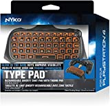 Nyko Type Pad - PlayStation 4 with Built-in Rechargeable Battery, Built-in Speaker without the need for a Headset, .com Shortcut and Full QWERTY Style Keyboard