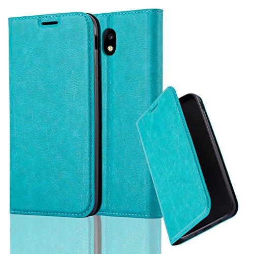 Cadorabo Funda Libro para Samsung Galaxy J5 2017 en Turquesa Petrol - Cubierta Proteccíon con Cierre Magnético, Tarjetero y Función de Suporte - Etui Case Cover Carcasa