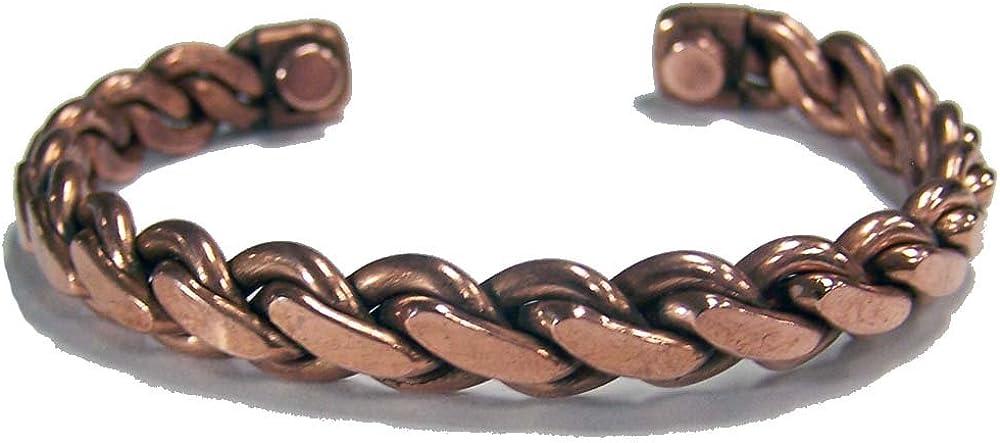 Novelties Company Pure Copper Magnetic Braided 38 Gram Cuff Health Bracelet