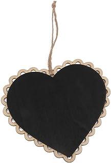Suspendida C & # x153; ur madera rosenice Mini pizarra cuadro decoración para casa oficina boda