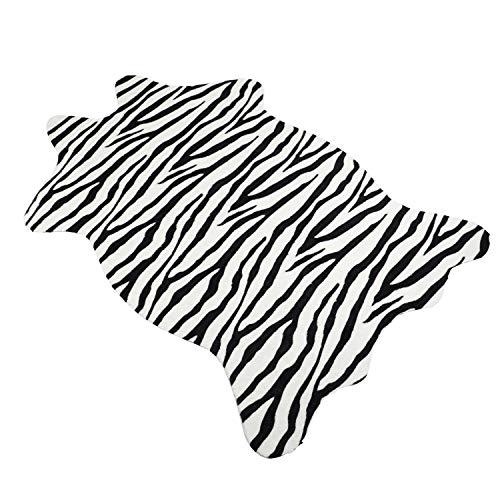 Famibay Zebra Teppich Kunstfell Tier Fellvorleger Imitate Zebrafell Kuscheldecke Sofadecke Bettvorleger Teppich Matt Schlafzimmer Wohnzimmer
