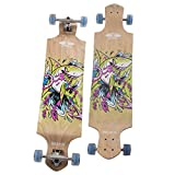 """Movendless YD-0013 Skateboard 41.75"""" Drop Deck Complete Longboard, 9 Layer Canadian Maple Wood Skate Board, 41.75 x 10 inches"""