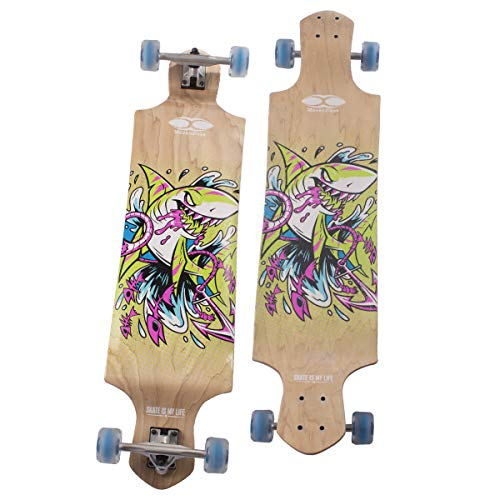"Movendless YD-0013 Skateboard 41.75"" Drop Deck Complete Longboard, 9 Layer Canadian Maple Wood Skate Board, 41.75 x 10 inches"