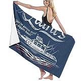 ENZOOIHUI Quints Amity Island Boat Tours Jaws Toalla de baño Toalla de Playa 80X130 Cm