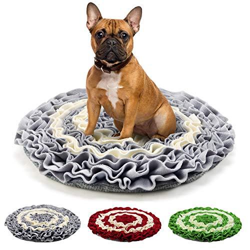 Pidsen Hund schnüffelteppich intelligenzspielzeug, Schnüffelteppich Hund Dog Puzzle Toys Hund Snuffle Mat für Hunde Pet Sniffing Pad,Intelligenz Hundespielzeug Schnüffelspielzeug (45cm x 45cm, Grau)