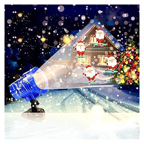 YCRCTC Projection de lumière d'animation LED Projecteur Télécommande Lumière de Noël Halloween projecteur lumières for Les lumières de fête Jardin Jardin