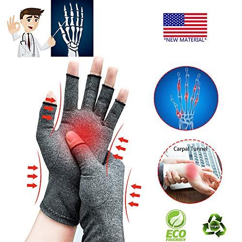 Arthritis-Handschuhe,Neues Material, Kompression für Arthritis-Schmerzlinderung Rheumatoide Arthrose, Premium-Kompression und fingerlose...