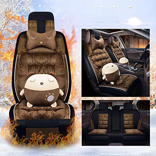 Inverno auto caldo della sede Ford Forrest Adatto per peluche Coprisedili,Marrone