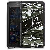 DeinDesign Silikon Hülle kompatibel mit Microsoft Lumia 535 Dual SIM Hülle schwarz Handyhülle iBlali Camouflage YouTube