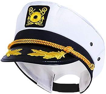 KANGAROO Adjustable Adult Captain s Yacht Cap White
