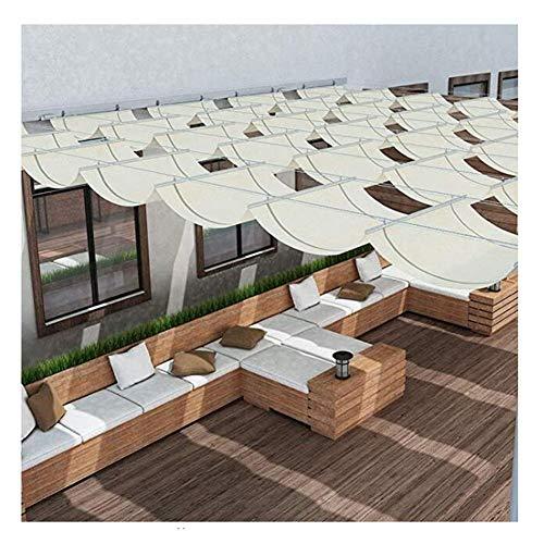 LH-RUG Retractable Pergola Canopy Shade Sail Shade Privacy Porch pergola Deck Gazebo Patio,48 Sizes Custom Size