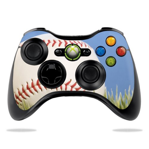 MightySkins Skin Compatible with Microsoft Xbox 360 Controller - Baseball | Protective, Durable, and Unique Vinyl Decal wrap Cover | Easy to Apply, Remove, and Change Styles | Made in The USA