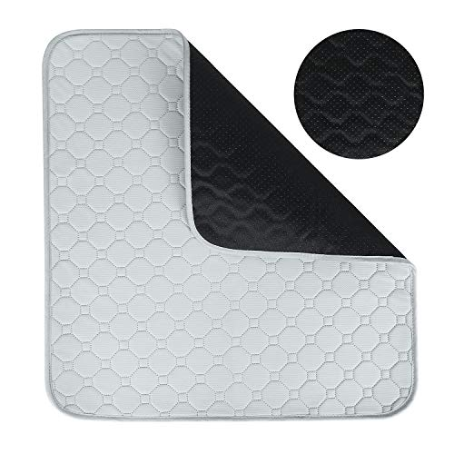 Waterproof Seat Pad Incontinence Pad Chair Seat Protector Pad Cushion Sheet Absorbent Washable Bed Pad Pet Sofa Cushion Multifunctional Waterproof Non Slip Underpad for Seniors, Adult, Children, Pet