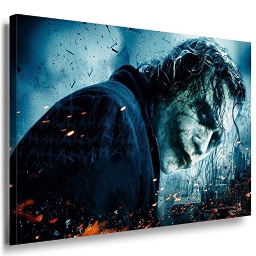 Joker böse Blick Leinwandbild / LaraArt Bilder / Mehrfarbig + Kunstdruck XXL f07 Wandbild 120 x 80 cm
